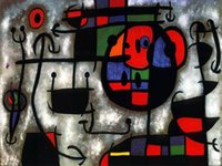 abstract oil painting lessons - Wall decoration for office high quality Joan Miro s hand painted oil paintings The Skiing Lesson
