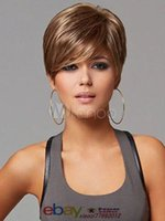 Wholesale Fashion wig New sexy Women s short Mix Blonde Natural Hair wigs wig cap