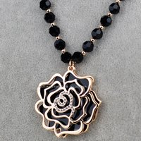 Wholesale New Jabesh Long Necklace Is Hollow Out Sweater Chain Roses Hang Act The Role Ofing Is Tasted