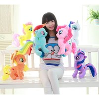 baby toy horse - 30CM Kids TV Rainbow MLP little horse plush toys Cartoon Animals Baby Toy for Children Gifts Wedding Gifts toys