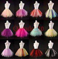 Wholesale 100PCS LJJH1018 candy color women tutus skirt dance dresses Adult bubble skirt girl tutu dress ballet skirt Cosplay skirt Clothing