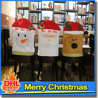 home furniture decoration - Chair Cover cm Cute Cartoon Christmas Hat Home Indoor Furniture Santa Decoration Festive Party Table Decorations