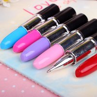 Wholesale Creative Novelty Ballpoint Pen Stationery Scalable Simulation Modeling Lipstick Pens Stationery School Office Writing Ballpen CYYZB