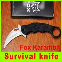 Cheap Folding knife Fox Claw Karambit G10 Handle Folding blade knife Outdoor gear utility knife best christmas gift 704L
