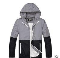 achat en gros de xs vestes femmes-2016 Nouveau mince couche Camouflage Tendance Trend Hoodies Outdoor Sport Skateboard Vestes Hip Hop Coat hommes / femmes coupe-vent à capuchon
