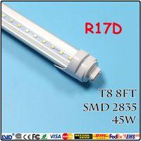 Wholesale FedEx Free R17D T8 LED Tube Lights W ft mm m fluorescent lamp SMD2835 High brightness AC85 V CE RoHS FCC ETL SAA UL