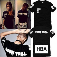 Cotton big rock t shirts - 2016 new High Quality Hood By Air HBA X Been Trill Kanye West T Shirt Hip Hop Rock t shirt men big size tees