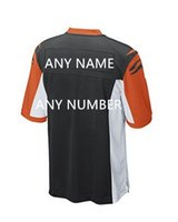 bengal jerseys - New Custom Bengal Jerseys white Black Orange background white word Men s High quality Short sleeved stitching Jerseys Size M XXXL