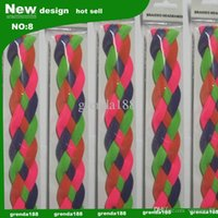 Wholesale new souvenirs four ropes woven headband soft braided mini headband