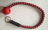 Wholesale Monkey s Fist quot Steel Ball Self Monkey Fist Keychain Survival Paracord lanyard