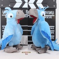 big parrots - 2pcs The Movie Rio Parrot Birds Jewel Blu Plush Toys Soft Stuffed Animal Dolls quot cm ANPT179