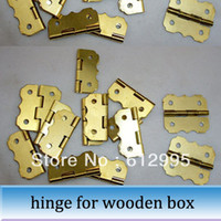 Wholesale 20pcs mm Butterfly hinge furniture mini hinges wooden wine box