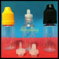 Wholesale PET E liquid Bottle Dropper Bottle E Liquid Bottle ml ml ml ml ml ml Plastic Bottles for eGo EVOD E Cigarette Starter Kits