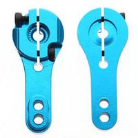 Wholesale Novetly Red Blue RC Tool T M3 Metal RC Servo Arm Horn For Futaba Savox Xcore HL HSP HD Power