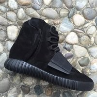 Wholesale Kanye West Milan Boost Shoe Sneakers Sport Sneakers Shoes Boost Triple Black Womens and Mens Shoes with Original Box