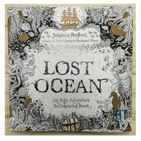Wholesale Newest lost ocean Coloring Book An Inky Quest Coloring Book by Johanna Basford Christmas Toy Gifts presents