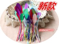 Wholesale cm Stripped Coque tail Feathers colors Cocktail Hat Feathers loose stripped coque feather