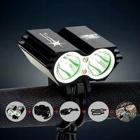 Wholesale 5000 Lumen Cree XML X2 LED Bicycle Light Bike headlight headlamp Battery Pack Charger Switch Modes