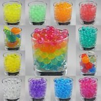Wholesale 21000gray Water Pearl Beads colors your pick Crystal Soil Mud Magic Plant Jelly Water absorbing crystal polymer soil DHL