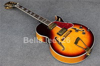 archtop jazz guitar - Hot selling music instrument classical sunburst color hollow body jumbo jazz archtop electric guitars factory OEM handmade guitar