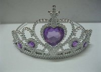 Wholesale Clear Crystal Pageant Prom Bridal Tiara Crown Headband for Girls