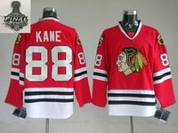 big hockey jerseys - Factory Outlet Big Small size Stanley Cup finals patch Chicago Blackhawks Patrick Kane red ice hockey jerseys larger size S XL