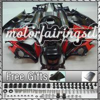 Cheap ABS Fairing Kit Fit CBR600 F2 91-94 CBR 600 1991-1994Black Red 10B49
