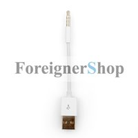 Wholesale 10cm mm to USB Power Charger Sync Data Transfer Cable for iPod Shuffle rd and th Generation