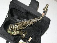 Wholesale Antique copper Small Selmer Soprano Sax Saxophone with Case Musical instruments made in China