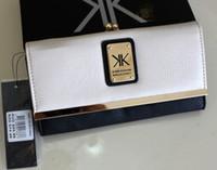 Wholesale 2015 New Kardashian kollection long design kk Purse women s wallets Clutch hitting buckle rivet wallet Bank cards handbag Storage bag
