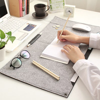 Wholesale pieces Two sided Hair Felt Organizer Home Office Mat Desktop Keyboard Mouse Holder Desk Accessories Writing Mat Two sided