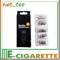 Cheap aspire nautilus BVC coils 1:1 CLONE for Aspiare mini Nautilus Clearomizer 1.6ohm 1.8 ohm Electronic Cigarette Dual coils New design