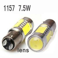 audi lens - 2pcs Guaranteed New W Lens Buid In Chip Cree Red BAY15D Car Tail Led Bulb Light e