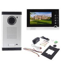 Wholesale Intercom System with IR Night Vision for Villa Apartment Eye Door bell quot TFT LCD Color Video Lens Door Phone Doorbell