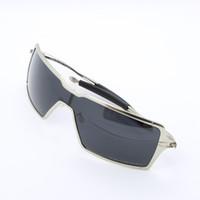 Wholesale 2015 Top Fashion Brand Designer Men Lifestyle Race Wear Sunglasses Metal Frame gray Polarized Glasses in Box