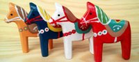Wholesale wooden Pony Fridge Magnets horse stickers mix colors European style