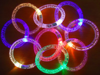 Wholesale Light Up Bracelets Free Shipping - Wholesale --light up toys Led flashing blinking bracelet for Christmas party decoration for free ship