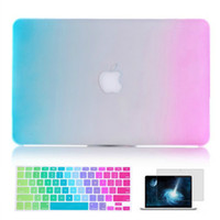 Wholesale Macbook Mac Laptop Rainbow Matt Protective Translucent Hard PC Case Cover for inch Air Pro Retina
