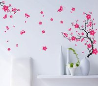 art commission - wall stickers home decor AY739 peach fifth generation no white borders PVC removable wall stickers transparent film commission