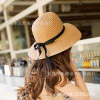 Wholesale Choke a small pepper hat lady bohemian summer beach hat sun visor bow a51