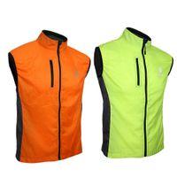 Wholesale ARSUXEO Waterproof Men Women Ultrathin Running Bicycle Vest Spring Autumn Windproof Sleeveless Coat Jacket Clothing