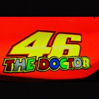Wholesale 12 CM stickers MOTORCYCLE Rossi the doctor for m reflective stickers VALENTINO ROSSI M52822 motorcycle tracker