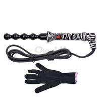 Tourmaline Ceramic Curling baguette magique Perle Cheveux curleur rouleaux 110-240V Vague cheveux Fer à friser Styling Tools avec Glove HS47-V52
