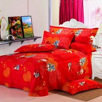 baby doll cover - The wedding bedding cotton duvet cover doll quilt sandwich hi baby double red cotton bed sheets