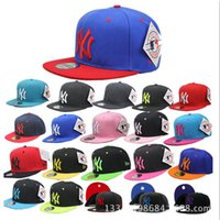 Wholesale Baseball Cap NY Embroidery Letter Sun Hats Adjustable Snapback Hip Hop Dance Hats Summer Outdoor Men Women Red Multicolor With Logo