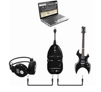 Wholesale High quality PC MAC Recording Record with CD Driver New Guitar to USB Interface Link Cable Best Selling