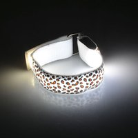 For Samsung armed vogue - LED Gadget Vogue Leopard Print Colorful Glowing LED Arm Band Lights Flash Bracelet for Party Supplies Reflective LED Toys