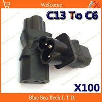industrial material - High Quality IEC320 C13 to C6 industrial Plug adaptor C13 to C6 CE standard plug ABS brass material A V DHL EMS