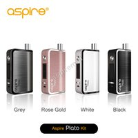 Wholesale 100 Original Aspire Plato W TC Kit All In One Personal Vaporizer Plato Subohm atomizer with ohm kanthal Clapton coil