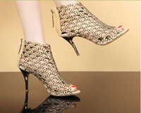 Wholesale 2015 new shoes high heeled sandals with star with a fine diamond cut fish mouth nightclub sandals